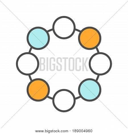 Circle symbol color icon. Community concept. Isolated vector illustration