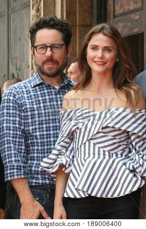LOS ANGELES - MAY 30:  JJ Abrams, Keri Russell, Matt Reeves at the Keri Russell Honored With a Star Ceremony on the Hollywood Walk of Fame on May 30, 2017 in Los Angeles, CA
