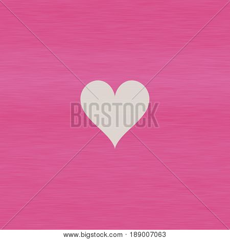 Simple beautiful little light heart on girly sweet pink background