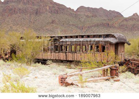 Vintage Western Pioneer Railway Train Wagon