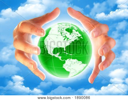 Planet Earth In The Hands