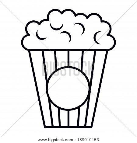 pop corn cinema food vector illustration design