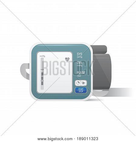 Blood Pressure Monitor Illustration Vector On White Background. Medical Concept.
