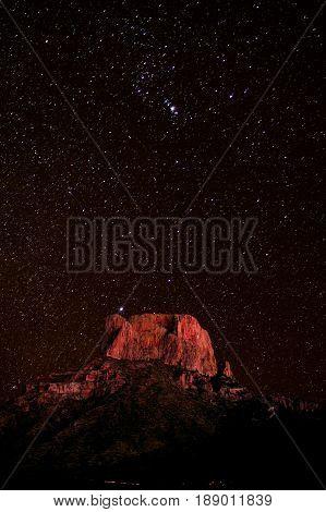 Casa Grande Peak In Big Bend Np Texas Usa