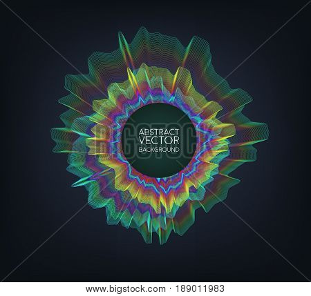 Abstract concept design sound wave bass. Vector illustration for motion design.