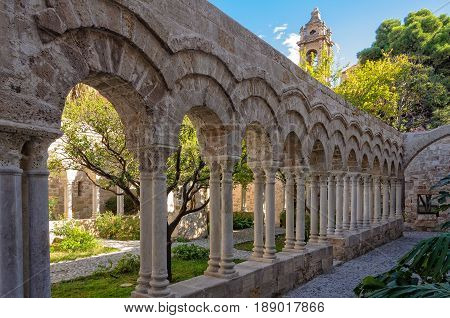 Cloister of the Church of St. John of the Hermits - Palermo Sicily Italy