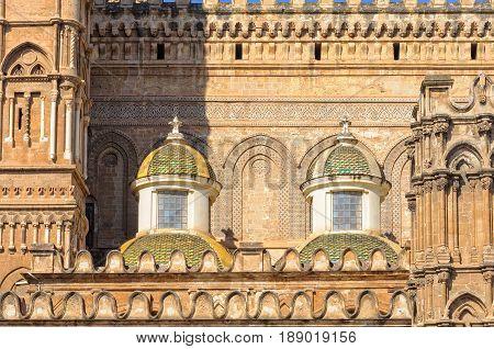 Baroque small side cupolas of the Cathedral of Palermo by Ferdinando Fuga
