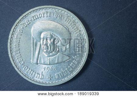Escudo Portuguese Dom Henrique Infante 1960 Head Coin, Vintage Antique Old, Difficult And Rare To Fi