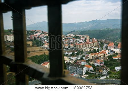 Top view of Lamego city, northern Portugal.