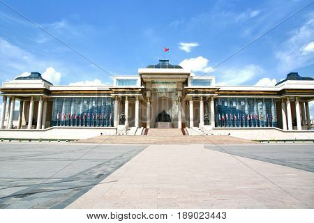 Ulaanbaatar Mongolia  July, 3  2016 :  Sukhbaatar Square Is The Central Square Of Mongolia's Capital