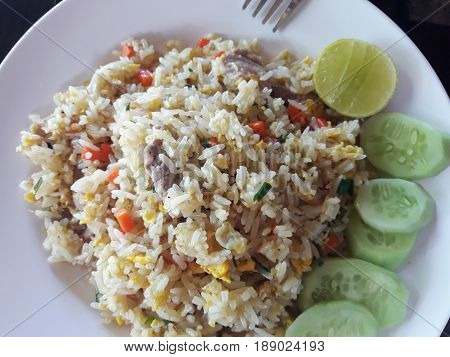 Easy Fried Rice With Egg And Pork, Easy Menu