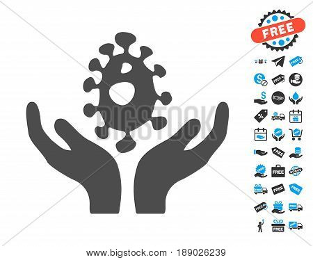 Biotechnology gray pictograph with free bonus pictograph collection. Vector illustration style is flat iconic symbols.