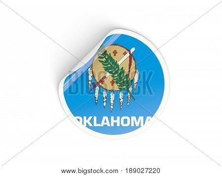Flag Of Oklahoma, Us State Round Sticker