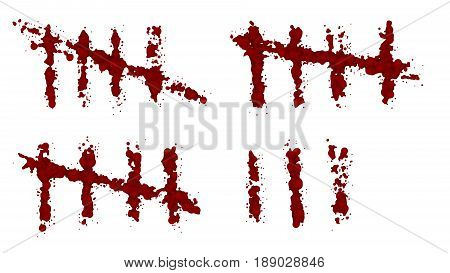 frequency bleeding isolated. Lost a lot of blood, having a hemorrhage. The blood on the white background