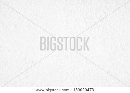 Crumpled white mulberry paper textured background detail closed up