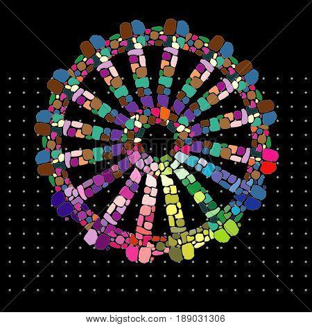 Rainbow Gypsy Wheel of Freedom Pagan Symbol