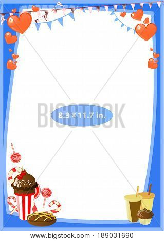 Photo Frame. Standard Photo Size In Inches. Vector
