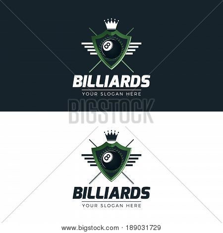 Billiards Logo. Logo template for your business