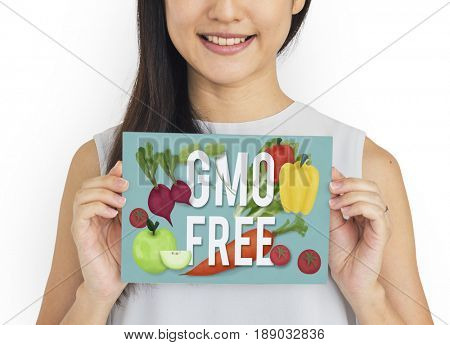GMO Free Green Fruits Vegetables Icon