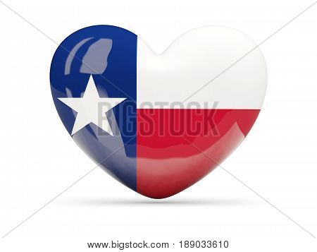 Flag Of Texas, Us State Heart Icon