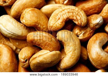 Heap Of Cashew Nuts Close-up