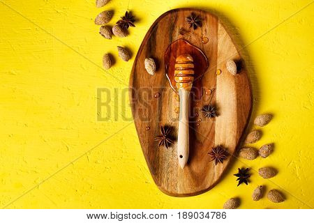 Honey Dipper With Nuts And Spices