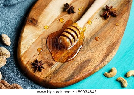 Honey With Special Spoon, Close-up