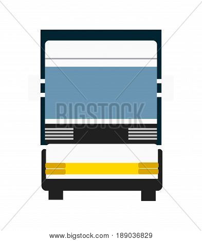 Cargo truck isolated icon. Modern lorry truck front view, vehicle for cargo transportation, trucking and delivery service vector illustration