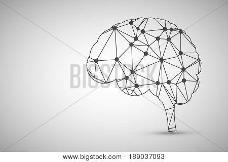 Business Creative and Idea Concept : Lineal Brain Design.