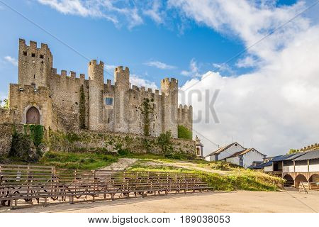View at the castle of Obidos in Portugal