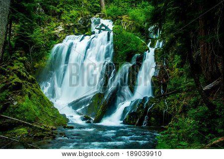 National Creek Falls in Crater Lake NP OR
