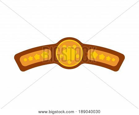 Champion Belt. Award For Winning Boxing Tournament. Championship On Fights