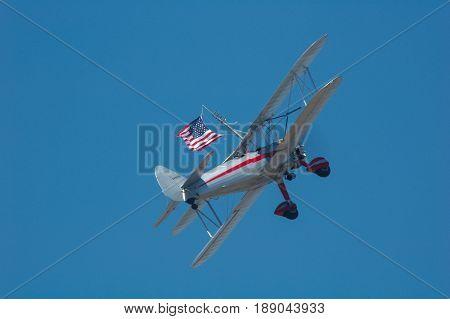 Wing walker at Riverside Airshow 2006 Riverside CA
