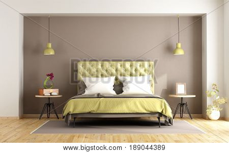 Brown And Green Master Bedroom