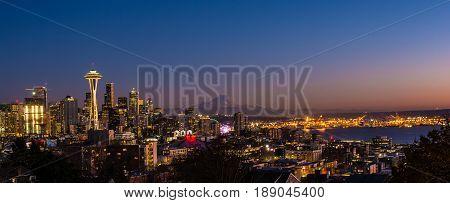 Seattle skyline taken from Seattle's iconic Kerry Park