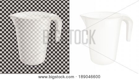 Transparent vector plastic jug. Mock up design