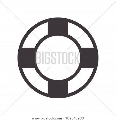 lifebelt symbol to maritime rescue and protection vector illustration