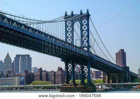 Brooklyn Bridge New York, New York from the Brooklyn side