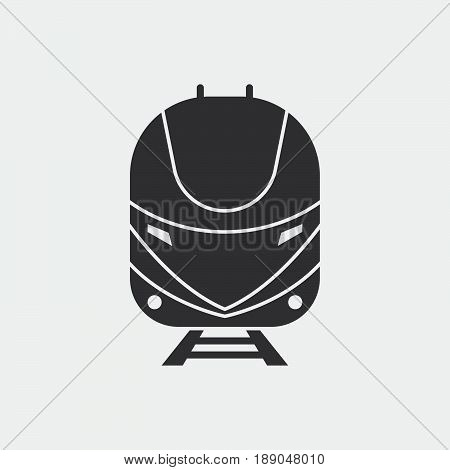 bullet train icon vector isolated on grey .