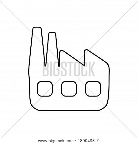 line factory pollution to contamination of planet vector illustration