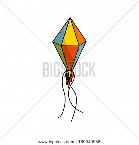 nice kite to play in the freetime vector illustration