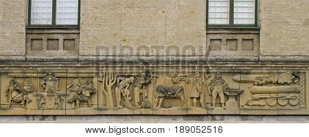 Bas-relief Of Development And Progress In Sweden