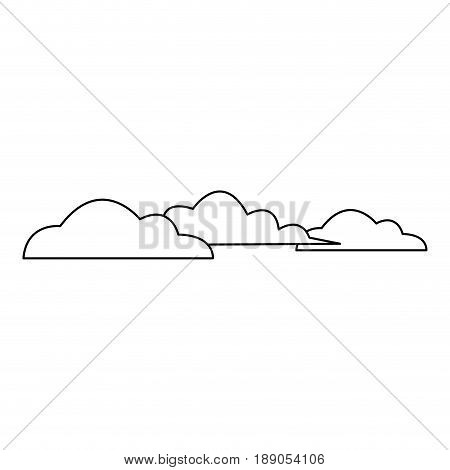 cloud sky weather heaven nature icon vector Illustration