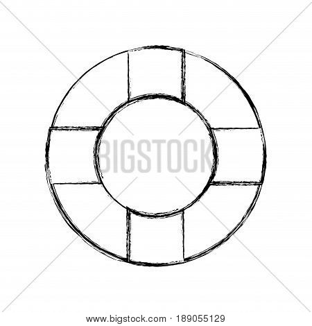 figure lifebelt symbol to maritime rescue and protection vector illustration