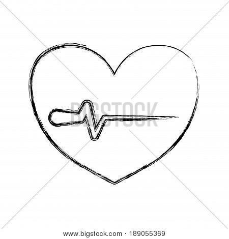 figure heartbeat sign of cardiac rhythm frequency vector illustration