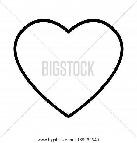 heart drawing love valentine celebration passion romance vector illustration