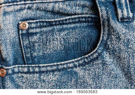 Jeans Background, Denim Jeans Background With Seam Of Jeans Fashion Design. Jeans Texture With Seams