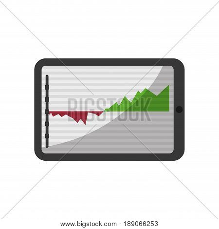 tablet statics trend vector illustration graphic design icon