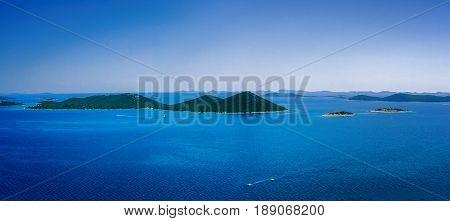 Amazing Kornati Islands Of Croatia. Northern Part Of Dalmatia. Sunny Detail Of Seascape From Zadar T
