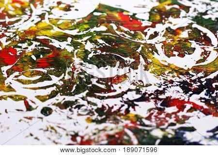 Abstraction Of Gouache, Colored Photo
